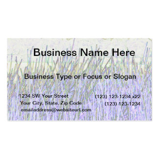 Abstract reeds In purple and white colors Business Card