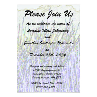 Abstract reeds In purple and white colors Card