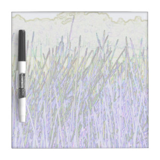 Abstract reeds In purple and white colors Dry Erase Board
