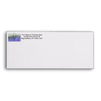 Abstract reeds In purple and white colors Envelope