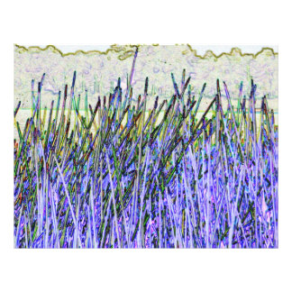 Abstract reeds In purple and white colors Custom Flyer