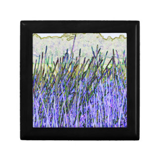 Abstract reeds In purple and white colors Keepsake Boxes