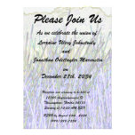 Abstract reeds In purple and white colors Invitations
