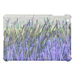 Abstract reeds In purple and white colors Cover For The iPad Mini