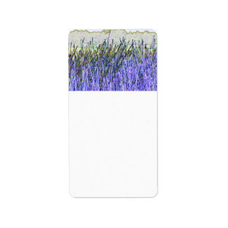 Abstract reeds In purple and white colors Custom Address Labels