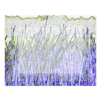Abstract reeds In purple and white colors Custom Letterhead