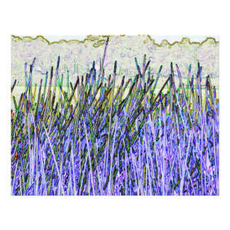 Abstract reeds In purple and white colors Letterhead Design