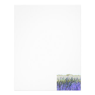 Abstract reeds In purple and white colors Letterhead Template