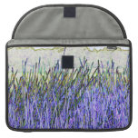 Abstract reeds In purple and white colors Sleeve For MacBook Pro