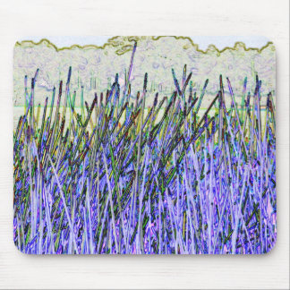 Abstract reeds In purple and white colors Mouse Pads