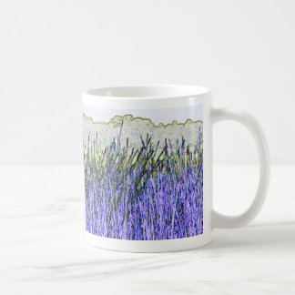 Abstract reeds In purple and white colors Coffee Mugs