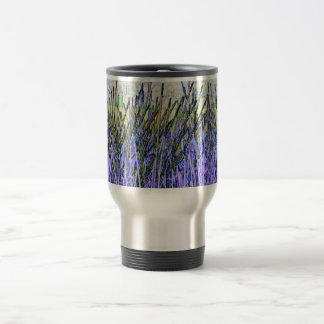 Abstract reeds In purple and white colors Mugs