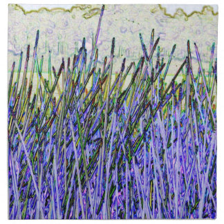 Abstract reeds In purple and white colors Napkins