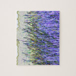 Abstract reeds In purple and white colors Jigsaw Puzzles