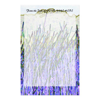 Abstract reeds In purple and white colors Stationery