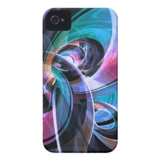 Abstract Reflecting Rings iPhone 4 Cover