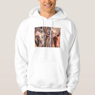 Abstract Reflecting Rings Pullover