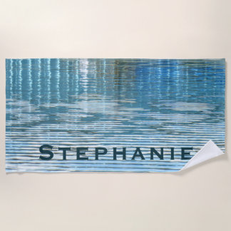 Abstract Reflection Beach Towel with Name