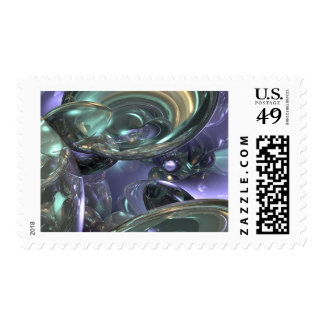 Abstract Reflection Design Postage Stamp