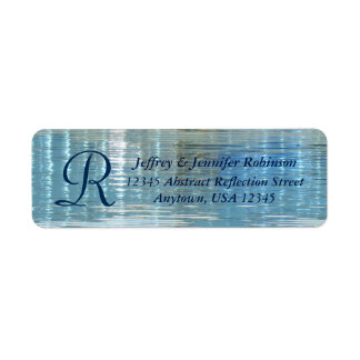 Abstract Reflection Name & Address Label Monogram