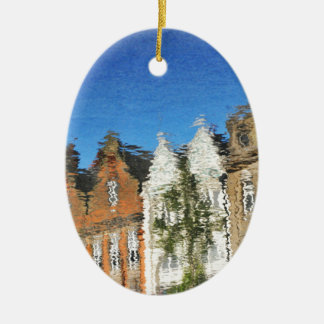 Abstract reflections ceramic ornament