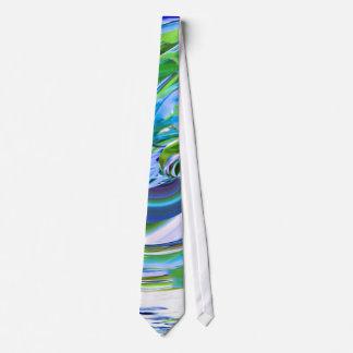 Abstract Reflections Digital Art #3 Dress Tie