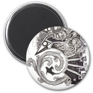 Abstract Reptiles 2 Inch Round Magnet