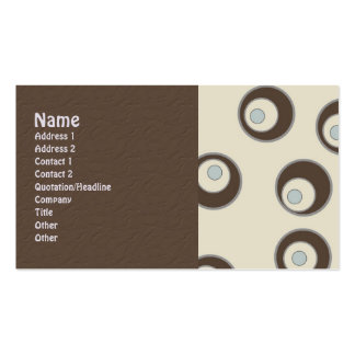 Abstract Retro Circles Business Cards