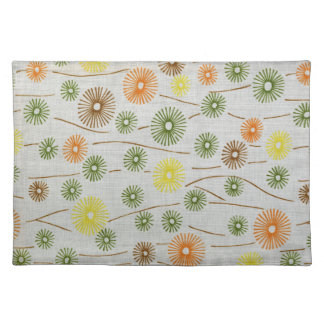 Abstract Retro Floral Pattern Place Mat Cloth Place Mat