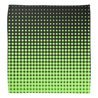 Abstract Retro Green and Black Halftone Background Bandana