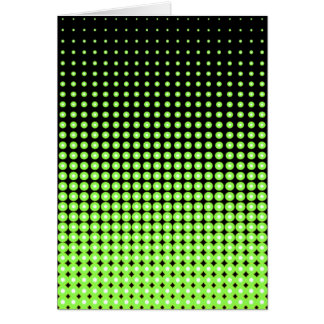 Abstract Retro Green and Black Halftone Background Card