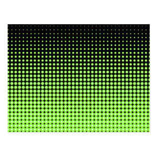 Abstract Retro Green and Black Halftone Background Postcard