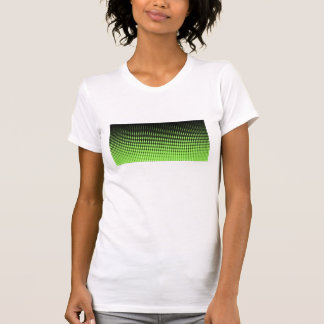 Abstract Retro Green and Black Halftone Background Shirt