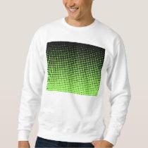 Abstract Retro Green and Black Halftone Background Sweatshirt