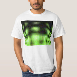 Abstract Retro Green and Black Halftone Background Tee Shirt
