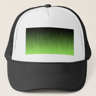 Abstract Retro Green and Black Halftone Background Trucker Hat