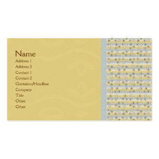 Abstract Retro Mini Circles Biz Cards Double-Sided Standard Business Cards (Pack Of 100)