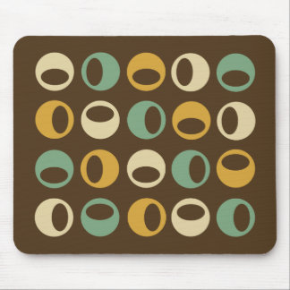 Abstract Retro Modern Spheres Mousepad