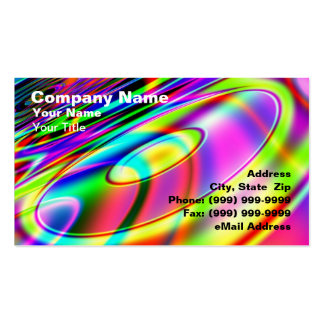Abstract Retro Music CD Business Card
