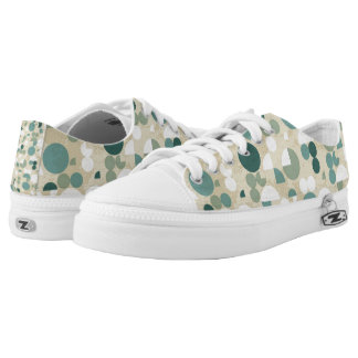Abstract retro pattern Low-Top sneakers