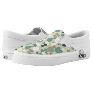 Abstract retro pattern Slip-On sneakers