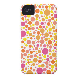 abstract retro polka dots iPhone 4 cover