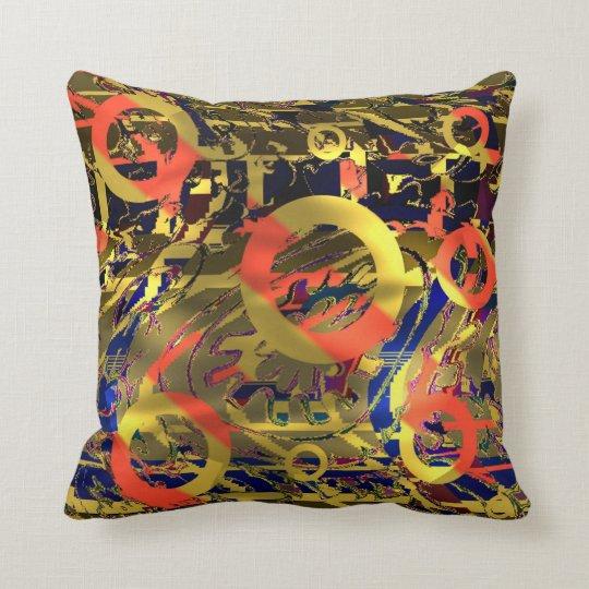 Abstract: Retro Pop Art Throw Pillow