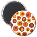 Abstract retro round magnets