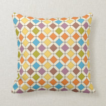 abstract retro throw pillow