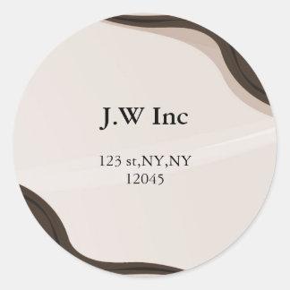 abstract Return address label Round Sticker