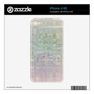 Abstract Ribbon Basket Decal For iPhone 4S