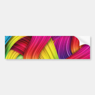 Abstract Ribbons Bumper Sticker