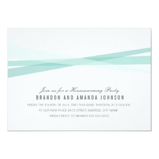 Abstract Ribbons Housewarming Party Invite