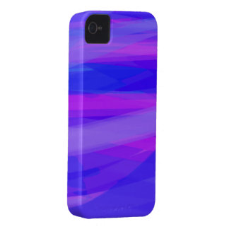Abstract Ribbons of Blue and Violet iPhone 4 Case